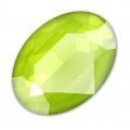 Swarovski 4120 Oval Fancy Stone 14x10 mm Crystal Lime x1