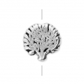 Tree of life bead 8 mm Old Silver Tone x1