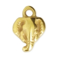 Elephant charm 9x12 mm Gold Tone x1