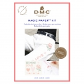 Kit DMC - Cross stitch embroidery - Magic Paper - Love