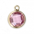 Pendant 8.5x6.5 mm Light Rose/14Kt Gold-filled x1