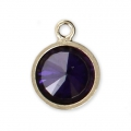 Pendant 8.5x6.5 mm Amethyst/14Kt Gold-filled x1