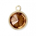 Pendant 8.5x6.5 mm Topaz/14Kt Gold-filled x1