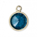 Pendant 8.5x6.5 mm Aqua Blue/14Kt Gold-filled x1