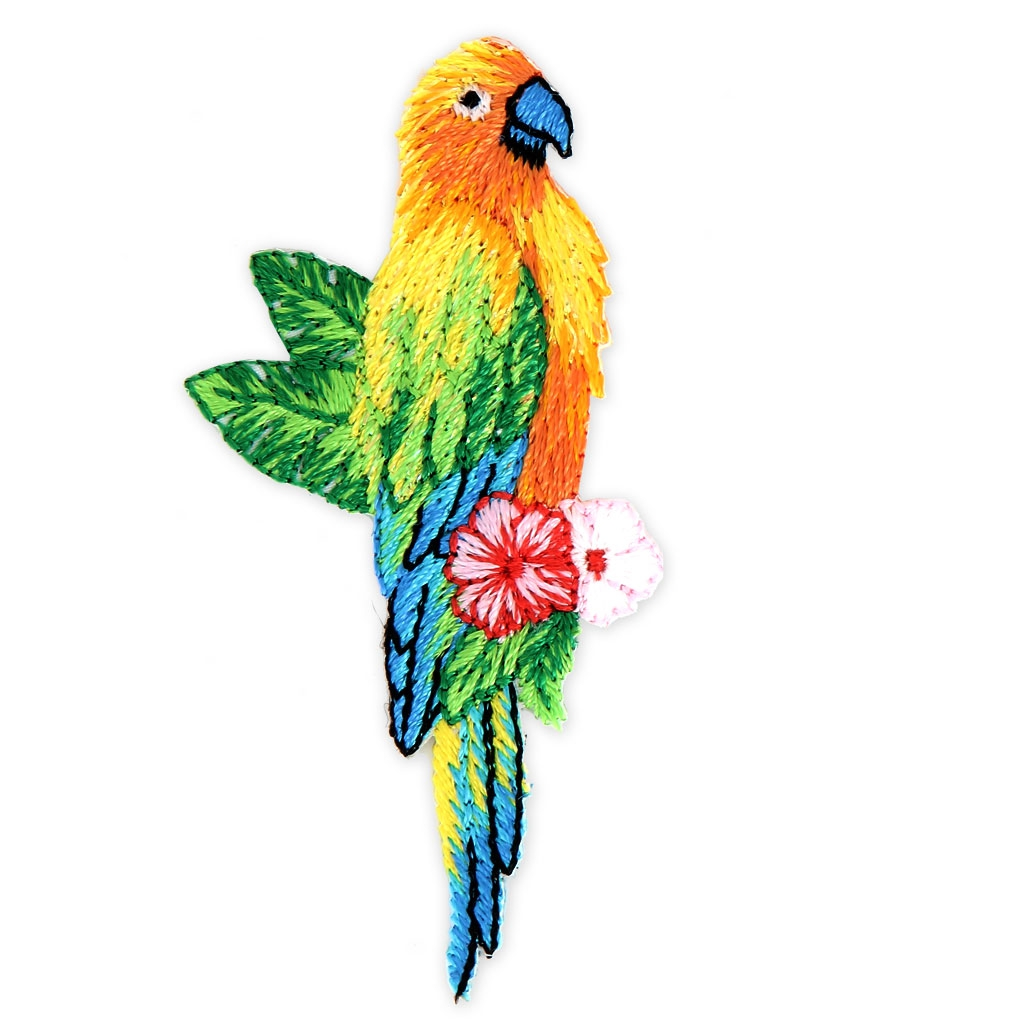 Iron On Glitter Badge Tropical Birds 70x40 Mm Parrot X1 Perles Co Origamiorigami Macaw Parrotorigami Diagram