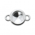 925 Sterling Silver setting spacer for cabochon Swarovski 1122 6 mm x1