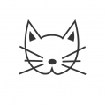 Wooden stamp pad 4x4.5 cm Cat's head x1