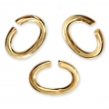 Oval jumprings open 4.4x3.3x0.7 mm - European-made - Gold Tone x50