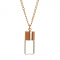 Rose Golden necklace with glass pendant to fill 25x10 mm - Bottle x1