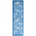 Silk Screen Moiko for bracelet  26.5x8.5 cm - Flowers and Birds pattern