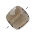 Faceted square Smoky Quartz 6 mm x1
