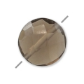 Faceted puck Smoky Quartz 6 mm x1