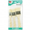 Set of 3 silk bristle spalters for oil and acrylic Pop Art Pébéo - Beau Blanc