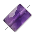 Faceted rectangle amethyst 5x7 mm x1