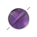 Faceted puck Amethyste 6 mm x1