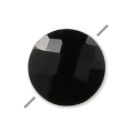 Faceted puck Black Onyx 6 mm x1