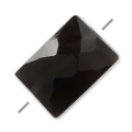 Faceted rectangle Black Onyx 5x7 mm x1