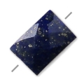 Faceted rectangle Lapis Lazuli 5x7 mm x1