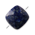 Faceted square Lapis Lazuli 6 mm x1