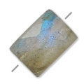 Faceted rectangle labradorite 5x7 mm x1