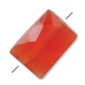 Faceted rectangle cornaline 5x7 mm x1