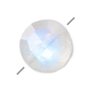 Faceted puck Moonstone 6 mm x1