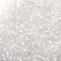 Mini Seed beads 11/0 2mm Crystal AB Silver Lined x10g
