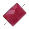 Faceted dyed rectangle imitation ruby 5x7 mm x1