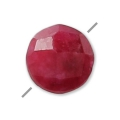 Faceted dyed puck imitation ruby 6 mm x1