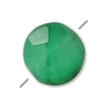 Emerald faceted imitation dyed square 6 mm x1