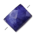 Saphir faceted imitation dyed rectangle 5x7 mm x1