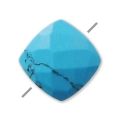 Faceted reconstituted square Turquoise 6 mm x1