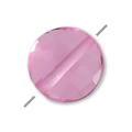 Faceted puck Hydro Tourmaline Rose 6 mm x1