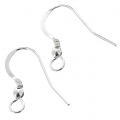 925 Sterling Silver Earwires - European made - 18 mm x2