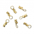Mini end clip 0.5 to 0.9 mm 3 micron gold plated x6