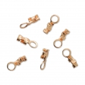 925 Sterling Silver Mini end clip 0.5 to 0.9 mm 3 micron rose gold plated x6