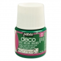 Opaque acrylic decorative paint - Deco Gloss by Pébéo - Green nr 137 x 45ml