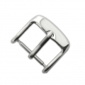 Stainless steel rectangular Ardillon buckle clasp for watch 16 mm x1