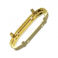 Brass setting with open back 4161 27x9 mm Gold Tone x1