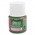 Opaque acrylic decorative paint - Deco Matt by Pébéo - Amazonia Green nr 115 x 45ml