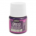 Opaque acrylic decorative paint - Deco Matt by Pébéo - Blackcurrant nr 112 x 45ml