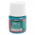 Opaque acrylic decorative paint - Deco Matt by Pébéo - Oriental Blue nr 114 x 45ml