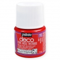 Opaque acrylic decorative paint - Deco Pearl by Pébéo - Red nr 110 x 45ml