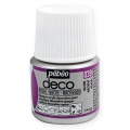 Opaque acrylic decorative paint - Deco Pearl by Pébéo - Silver nr 039 x 45ml