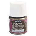 Opaque acrylic decorative paint - Deco Pearl by Pébéo - Marron Glacé nr 121 x 45ml