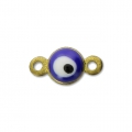Lucky eye mini spacer with epoxy resin 9x5 mm Navy Blue x1