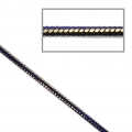 Two-tone serpentine mesh chain 1.7 mm Navy Blue/Gold Tone x1m