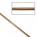 Two-tone serpentine mesh chain 1.7 mm Brown/Gold Tone x1m