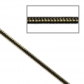 Two-tone serpentine mesh chain 1.7 mm Black/Gold Tone x1m