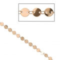 Fancy brass round mesh chain 6 mm Rose Gold Tone x1m